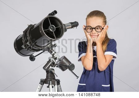 The Young Astronomer Funny Glasses Made A Face