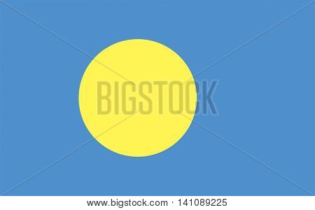 Vector Palau flag