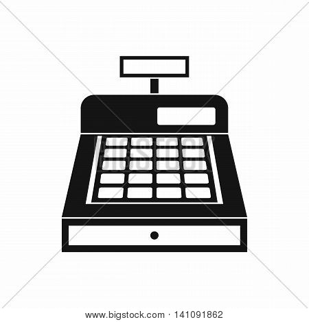 Cash register icon in simple style isolated on white background. Money symbol