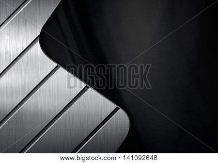 metal design with curve striped pattern background