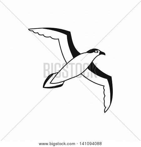 Seagull icon in simple style isolated on white background. Bird symbol