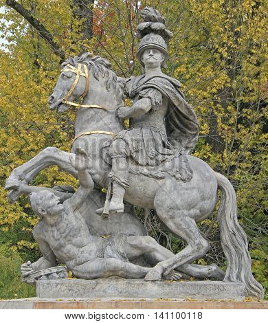 Monument To King John Iii In Lazienki Park, Warsaw