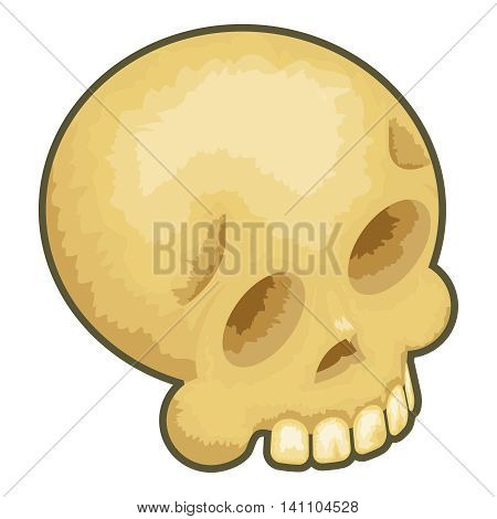 Isometric Skull Icon Symbol Isolated Cartoon Design Vector Illustration
