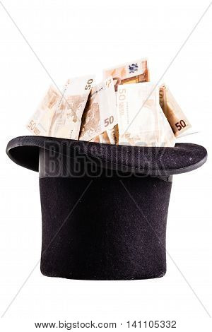 Top Hat With Money