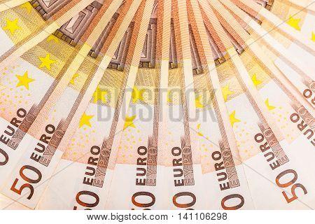 Euro Money Semicircle Detail