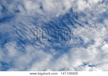 Natural blue sky Altostratus Clouds formation