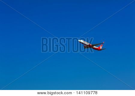 Corfu Airport, Greece - July 12, 2011: Boeing 737 Of Airberlin At The Airport Corfu