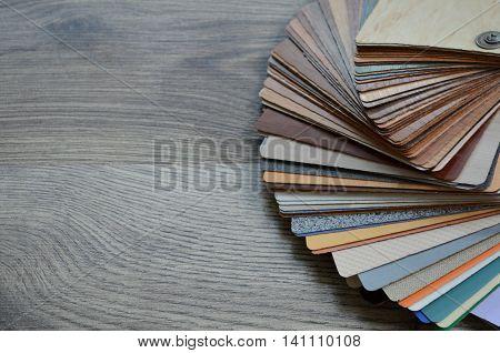 palette of textures decomposed parquet wood color