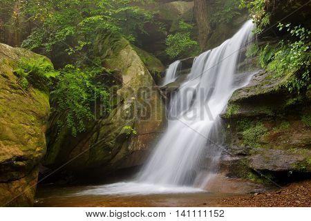 Hidden Falls in Hocking Hills State Park