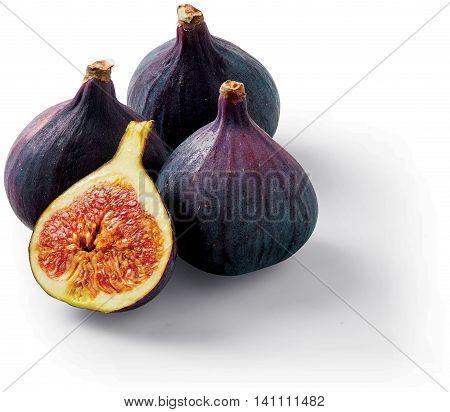 Fresh Figs raw food fruit on summer