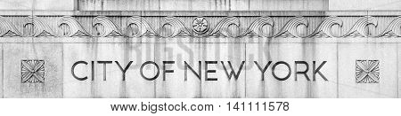 NEW YORK, USA - Apr 28, 2016: The New York City Department of Health and Mental Hygiene (DOHMH) is the department of the government of New York City
