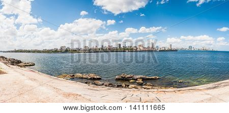 Panoramic View Of The City In Havana, Cuba