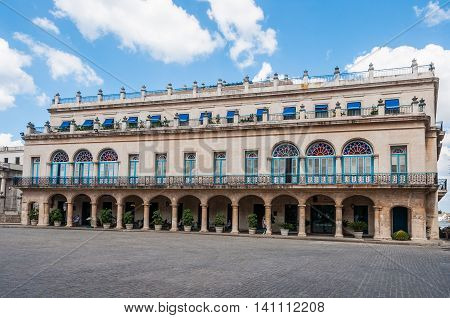 Old Colonial Buildings In Plaza Armas, Havana, Cuba