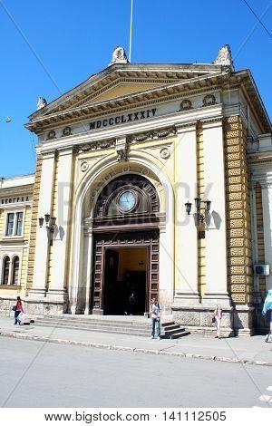 Belgrade,Serbia - april 16. 2016 - Railway station in Belgrade Serbia