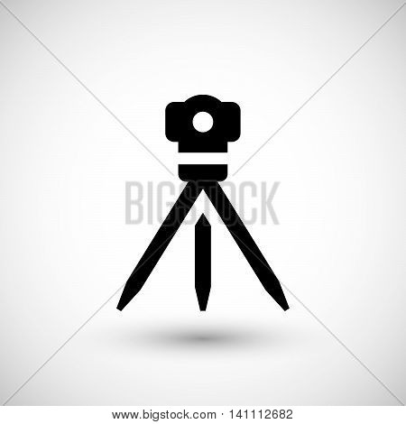 Geodetic level icon isolated on grey. Vector illustration