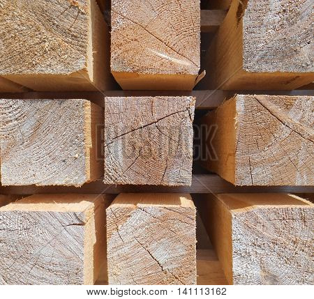 Structure from the sawn square wooden whetstones