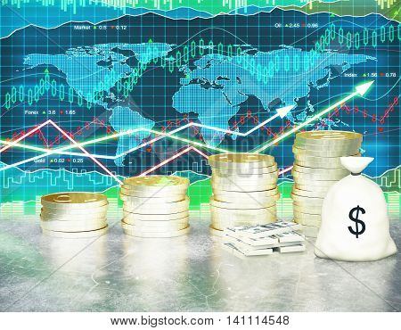 Growing Finances On Forex Background