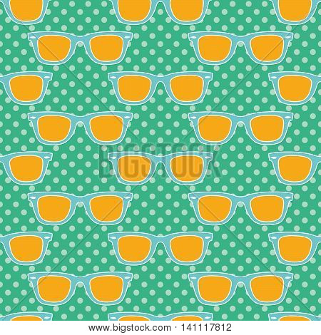 Funky glasses, Seamless pattern with classic glasses