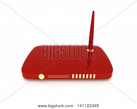 A 3D rendered Illustration. Wireless network Router.