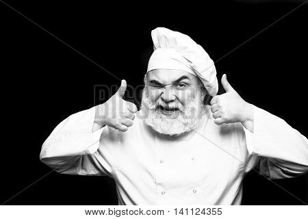 Winking Bearded Cook