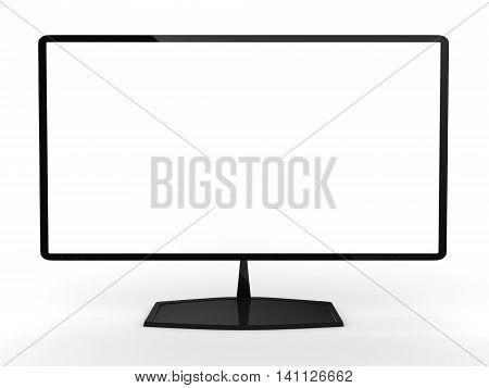 3D rendering model of the modern TV