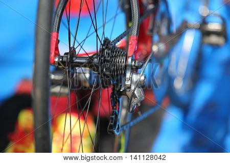 Bicycle Gears Mechanism On The Rear Wheel