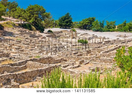 Archeological site of ancient Kamiros. Rhodes Greece
