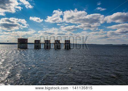 Lake Murray Water Towers Electricity South Carolina USA