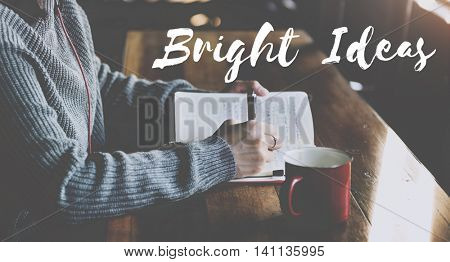 Bright Ideas Think Strategy Vision Concept