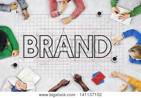 Brand Copyright Name Draft Graphic Concept