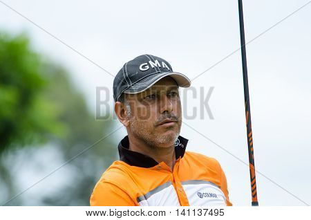 CHONBURI - JULY 31 : Jeev Milkha Singh of India in King's Cup 2016 at Phoenix Gold Golf & Country Club Pattaya on July 31 2016 in Chonburi Thailand.