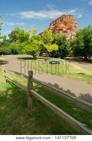 Ayres Natural Bridge Park Converse County Wyoming LaPrele Creek