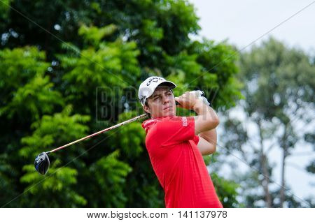 CHONBURI - JULY 31 : Lionel Weber of France in King's Cup 2016 at Phoenix Gold Golf & Country Club Pattaya on July 31 2016 in Chonburi Thailand.