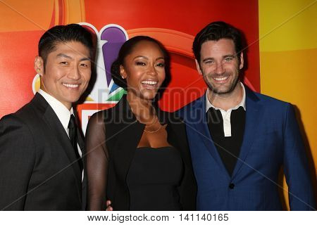 LOS ANGELES - AUG 2:  Brian Tee, Yaya DaCosta, Colin Donnell at the NBCUniversal TCA Summer 2016 Press Tour at the Beverly Hilton Hotel on August 2, 2016 in Beverly Hills, CA