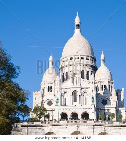 The Sacre-Coeur church in Montmartre