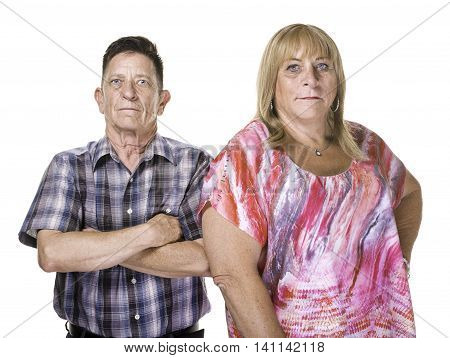 Skeptical Or Angry Transgender Man And Woman