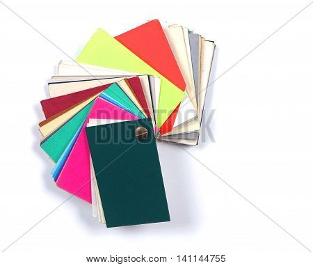 Colorful paper swatches palette sample guide choice