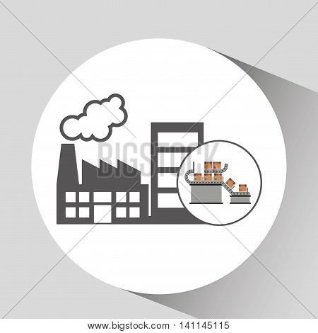factory and technolgy machine, industry icon, vector illustration