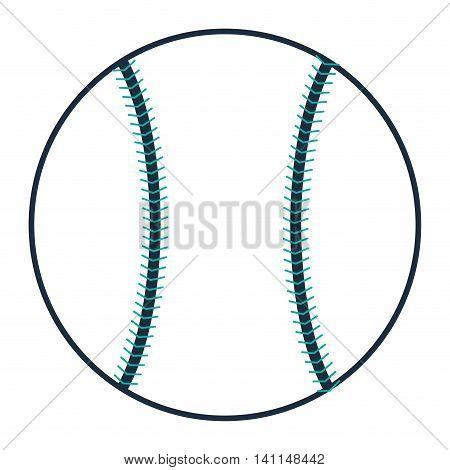 flat design single baseball icon vector illustration