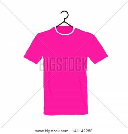 T-shirt In Colorful Illustration On White Background