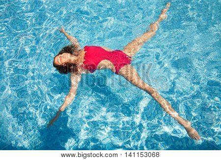 summer pool water woman star