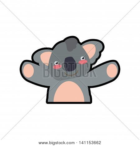 Koala cute animal little icon. Isolated and flat illustration. Vector graphic