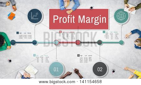 Profit Margin Finance Income Revenue Costs Sales Concept