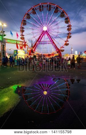 COLUMBUS, OHIO - AUGUST 1, 2016:  The Ohio State Fair is a popular event, attracting close to 1 million people.