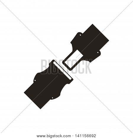 belt car accident silhouette vehicle insurance icon. Isolated and flat illustration. Vector graphic