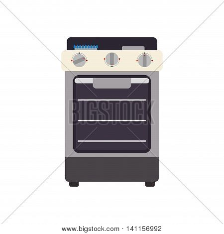 Stove supply house electric appliance icon. Isolated and flat illustration. Vector graphic
