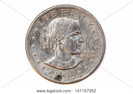 Front face of 1979 american one dollar coin
