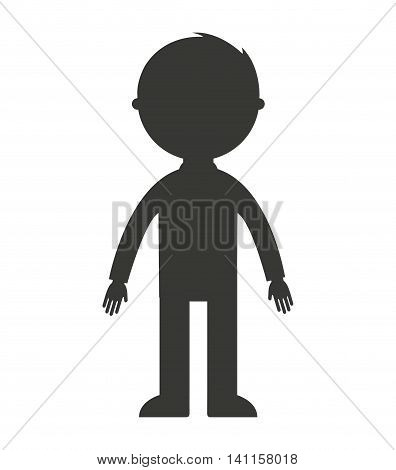 father silhouette isolated icon vector illustration design