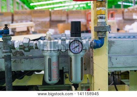 regulator, filter, air, pressure, background, white, compressed,