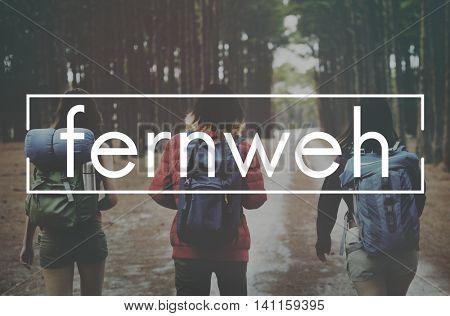 Fernweh Adventure Journey Lifestyle Resting Concept